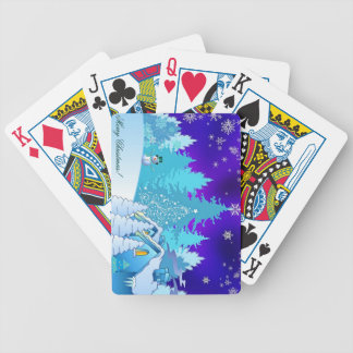 Christmas illustration poker deck