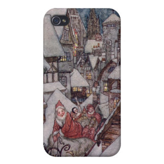 Christmas illustrations iPhone 4 case