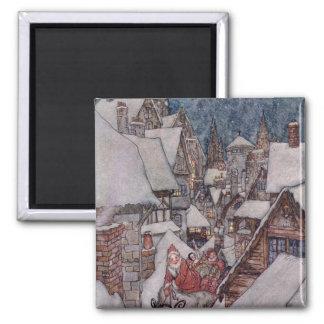 Christmas illustrations magnet