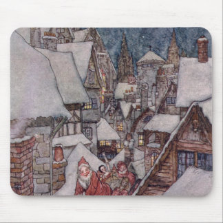 Christmas illustrations mouse mat