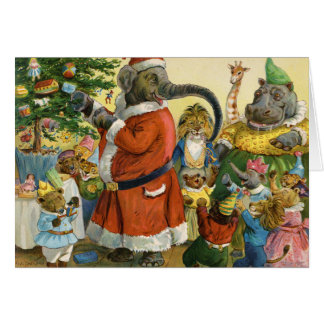 Christmas In Animal Land Card