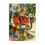 Christmas In Animal Land Postcard