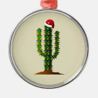 Christmas in Arizona Saguaro Cactus Lights Christmas Ornament