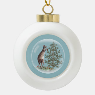 Christmas in Australia Ceramic Ball Christmas Ornament