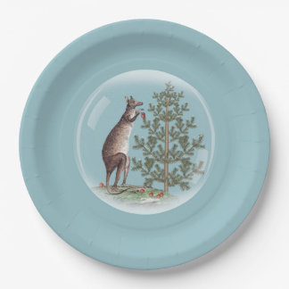 Christmas in Australia Paper Plate