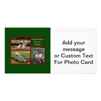 Christmas in Australia Photo Card Template