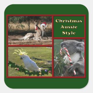 Christmas in Australia Square Sticker