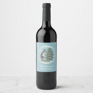 Christmas in Australia Wine Label
