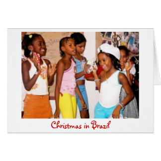 Christmas in Brazil card