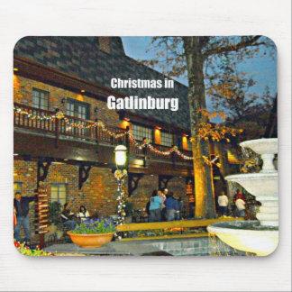 Christmas in Gatlinburg Tennessee Mousepads
