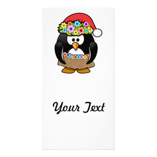 Christmas in July Penguin Picture Card