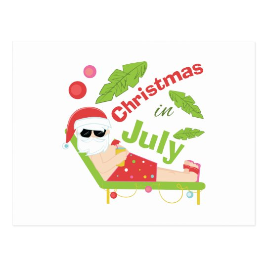 Christmas In July Postcard