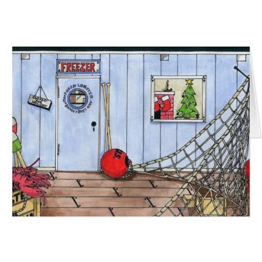 CHRISTMAS IN MAINE GREETING CARD