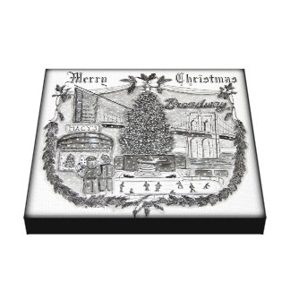Christmas in New York 12 x 12 Canvas Print