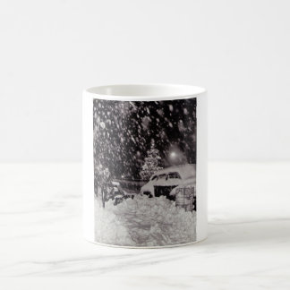 Christmas in New York City Vintage 1950s Basic White Mug