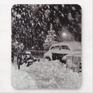 Christmas in New York City Vintage 1950s Mouse Pad