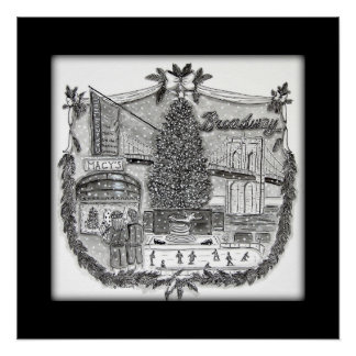 Christmas In New York Poster 20 x 20