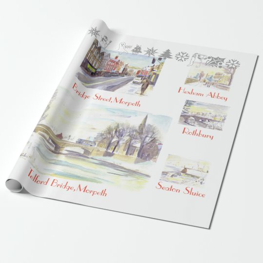 Christmas in Northumberland Wrapping Paper