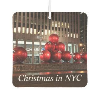 Christmas in NYC New York Holiday Balls Decoration Car Air Freshener