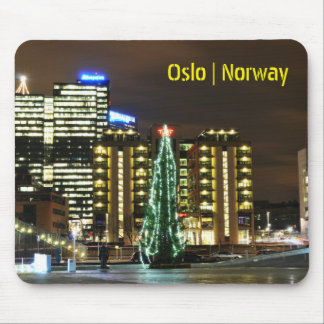 Christmas in Oslo, Norway Mouse Mat