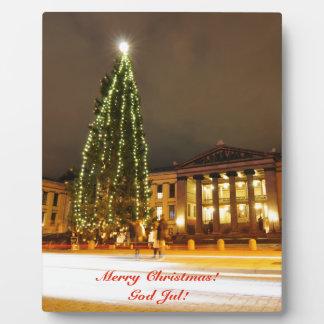 Christmas in Oslo, Norway Plaque