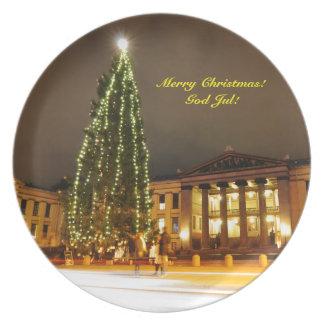 Christmas in Oslo, Norway Plate