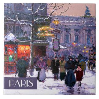 Christmas in Paris. Christmas Gift Ceramic Tiles