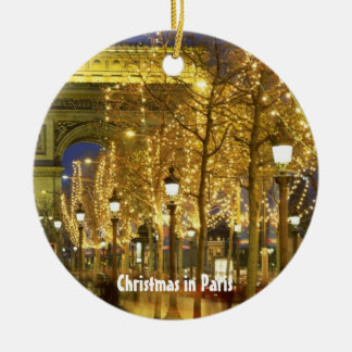 Christmas in Paris, Circle Ornament