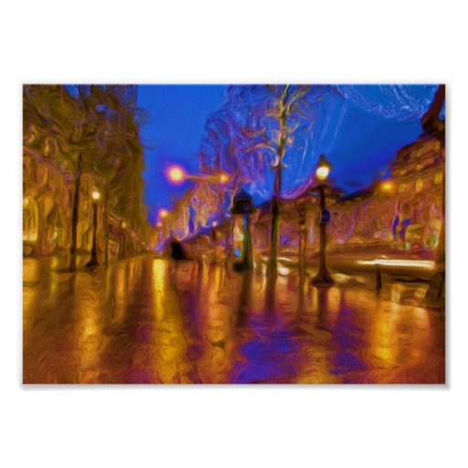 Christmas In Paris Print