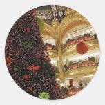 Christmas in Paris Round Sticker