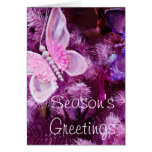 Christmas In pink And Purple Greeting Card