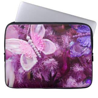 Christmas In Pink And Purple Laptop Sleeve