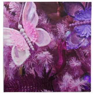 Christmas In Pink And Purple Napkin