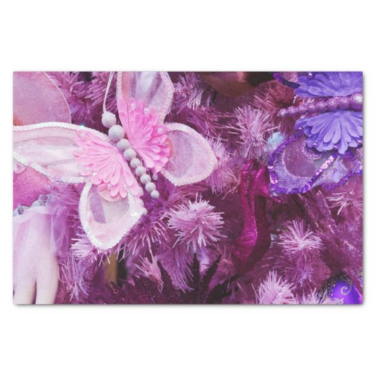 Christmas In Pink And Purple Tissue Paper