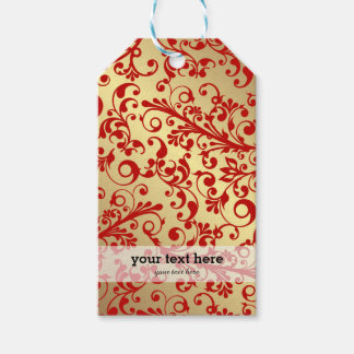 Christmas in red & gold gift tags