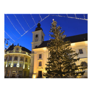 Christmas in Sibiu at night Flyer