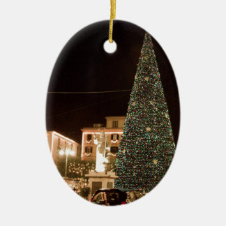 Christmas in Sorrento Ceramic Oval Decoration