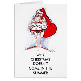 Dirty christmas cards invitations zazzle christmas in summer card m4hsunfo
