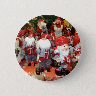 Christmas in Sweden 6 Cm Round Badge