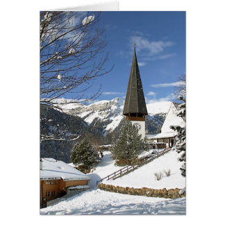 Christmas In Switzerland Card
