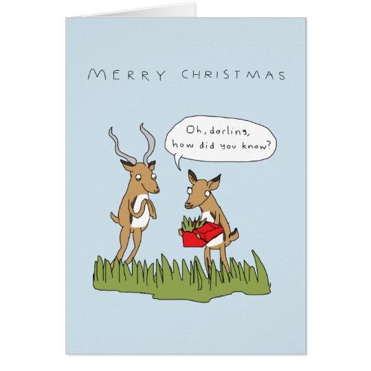 Christmas in the Bush | Funny Safari Card