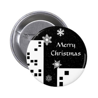 Christmas in the city cute Merry Christmas button 2 Inch Round Button