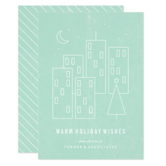 Christmas in the City Holiday Card - Mint