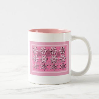 Christmas in the Pink Two-Tone Mug