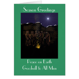 Christmas in the trenches greeting card