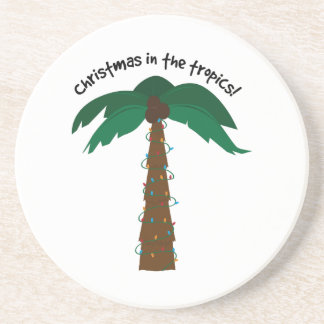 Christmas In The Tropics! Beverage Coasters