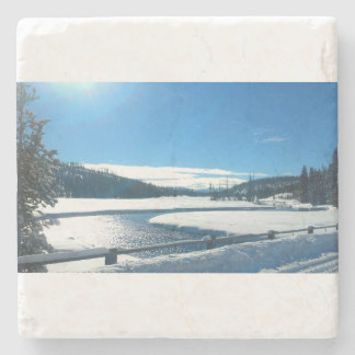 Christmas in Yellowstone Marble Coaster