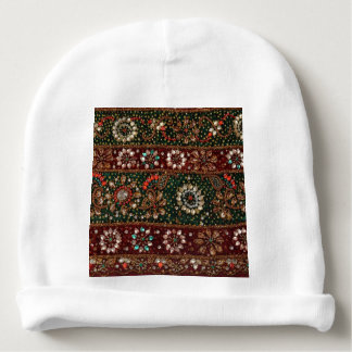 Christmas India Indian Textile Embroidery Bling Baby Beanie