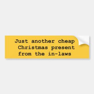 christmas inlaws bumper sticker
