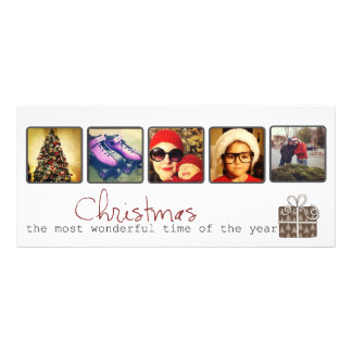 Christmas instagram photo rack cards